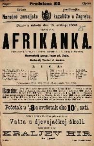 Afrikanka Velika opera u 5 čina / Glasba od A. Meyerber-a