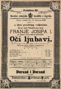 Oči ljubavi Vesela igra u 3 čina / napisala Vilhelmina pl. Hilern