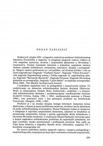 Nenad Fabijanić : Ljetopis