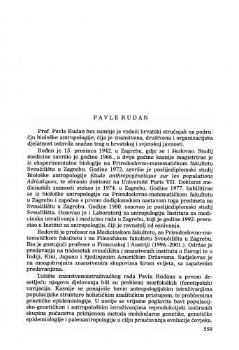 Pavle Rudan : Ljetopis