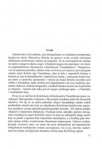 Neobična zavičajnost Miroslava Krleže