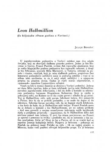 Leon Halbmillion