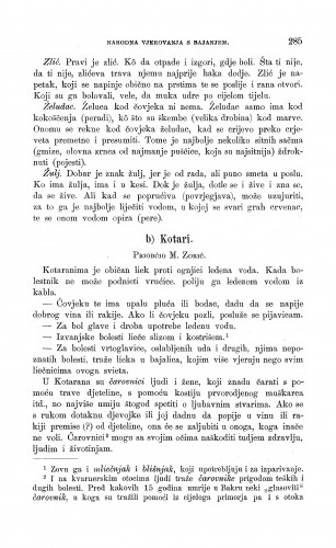 Kotari : narodno liječništvo : Zbornik za narodni život i običaje