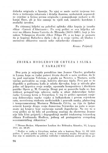 Zbirka Holderovih crteža i slika u Sarajevu : Bulletin Zavoda za likovne umjetnosti Jugoslavenske akademije znanosti i umjetnosti