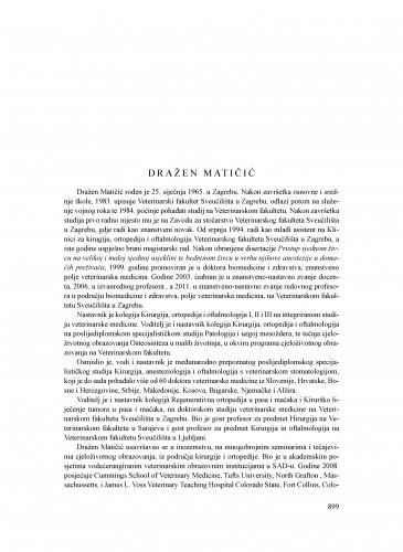 Dražen Matičić : Ljetopis