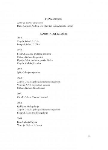Popis izložbi : Spomenica preminulim akademicima