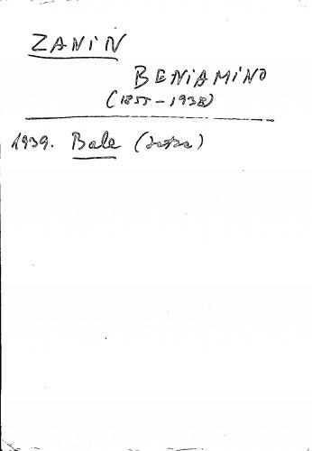 Zanin Beniamino