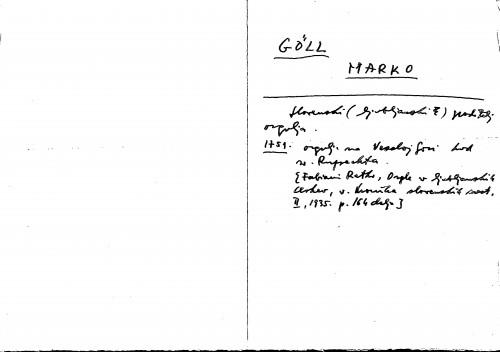 Göll[i.e. Göbl] Marko
