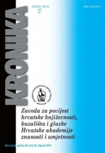 N. t. god. 12, br. 25(2010) : Kronika Zavoda za povijest hrvatske književnosti, kazališta i glazbe HAZU