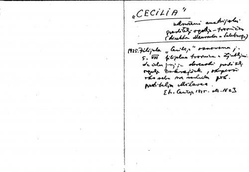 Cecilia udruženi austrijski graditelji orgulja