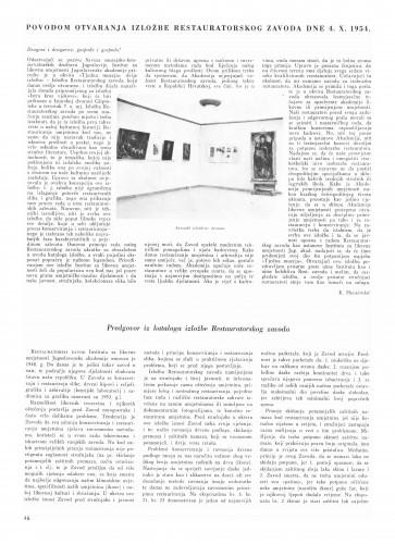 Prigodom otvaranja izložbe / Krsto Hegedušić. Predgovor kataloga : Bulletin Instituta za likovne umjetnosti Jugoslavenske akademije znanosti i umjetnosti