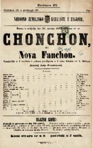 Chonchon ili Nova Fanchon : vaudeville u 4 razdiela i jednom predigrom u 1 činu / glasba od A. Mullera