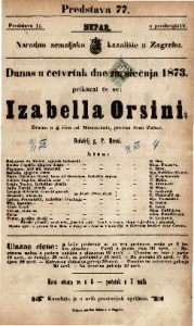 Izabella Orsini Drama u 4 čina / od Mosenthala