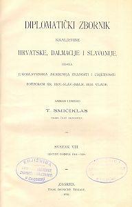 Sv. 8: Listine godina : 1301-1320 : Diplomatički zbornik Kraljevine Hrvatske, Dalmacije i Slavonije