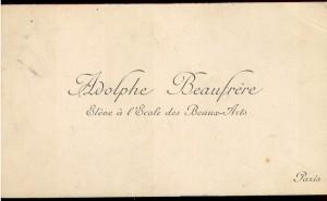 Adolphe Beaufrere Eleoe a l'Ecole des Beaux Arts