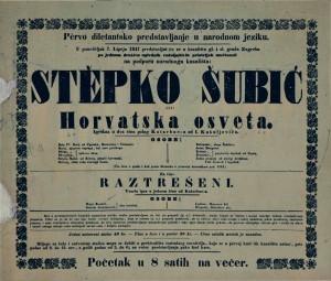 Stĕpko Šubić ili Horvatska osveta ; Raztrešeni Igrokaz u dva čina ; Vesela igra u jednom činu