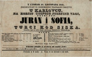 Juran i Sofia ili Turci kod Siska Junačka igra u trih činah / od Ivana Kukuljevića Saksinskoga