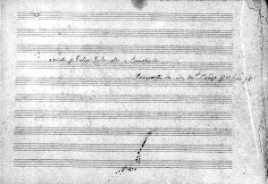 Sonata per violino, violoncello e pianoforte composta da Antonio Sorgo