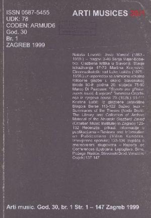 God. 30(1999), br. 1 : Arti musices