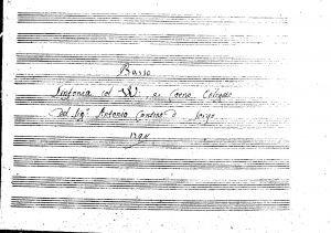 Sinfonia col violini e corno obligato del Sig.r Antonio Contino d Sorgo basso / del Sig. Antonio contino di Sorgo
