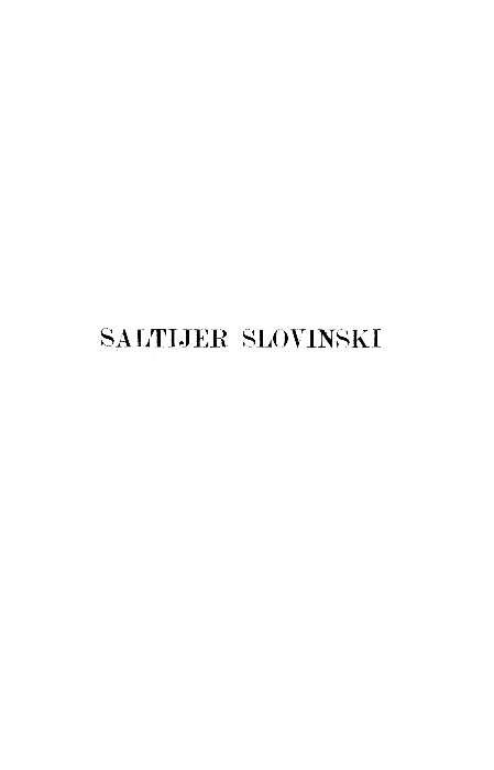 Knj. 2, [dio 1] : Saltijer slovinski : Stari pisci hrvatski