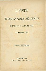 za godinu 1888. Sv. 3 : Ljetopis