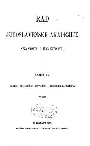 Knj. 33(1891) : RAD