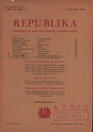 Neka pitanja nove arhitekture : Republika