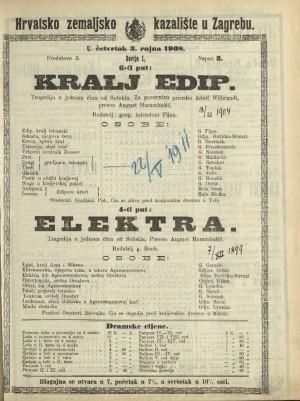 Kralj Edip ; Elektra Tragedija u jednom činu ; Tragedija u jednom činu