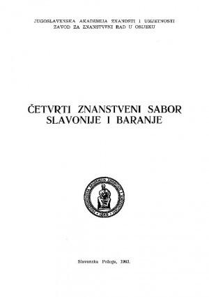 Četvrti Znanstveni sabor Slavonije i Baranje : program rada i sažeci referata i koreferata