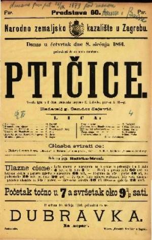 Ptičice Vesela igra u 3 čina / francezki napisao E. Labiche