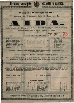 Aida : velika opera u četiri čina / od Verdi-a