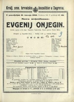 Evgenij Onjegin : Lirska opera u tri čina
