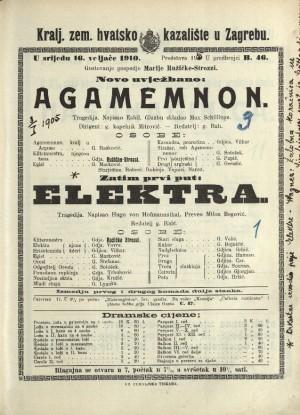 Elektra ; Agamemnon Tragedija
