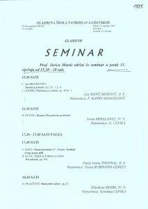 Seminar glasovir