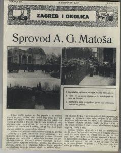 Sprovod A. G. Matoša