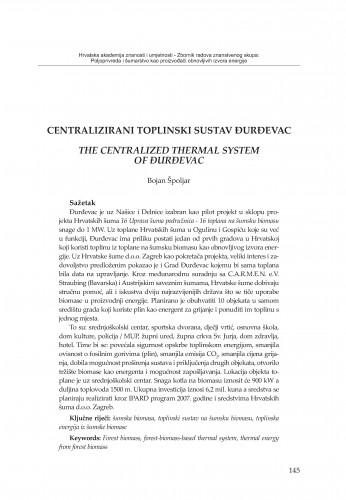 Centralizirani toplinski sustav Đurđevac