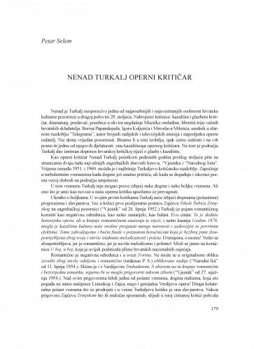 Nenad Turkalj operni kritičar : Krležini dani u Osijeku