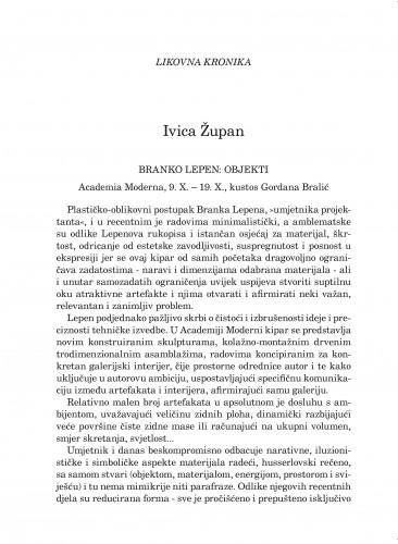Likovna kronika : Forum : mjesečnik Razreda za književnost Hrvatske akademije znanosti i umjetnosti.