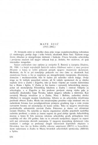 Mate Suić (1915.-2002.) : [in memoriam] / Nenad Cambi
