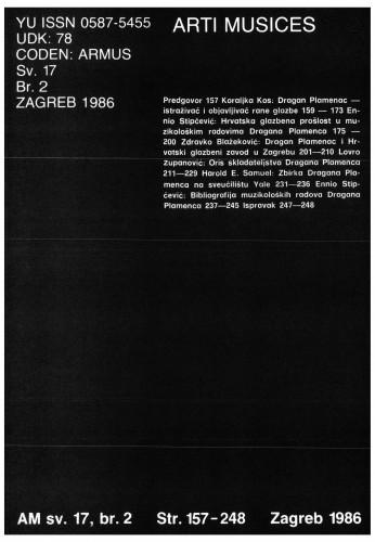 God. 17(1986), br. 2 : Arti musices