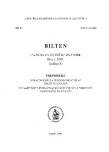 God. 9(2007), br. 3 : Bilten Razreda za tehničke znanosti