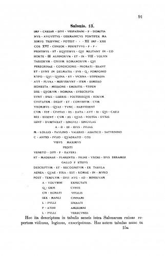 Incriptiones latinae antiquae Salonis repertae a Marco Marulo Spalatensi collectae et illustratae : RAD