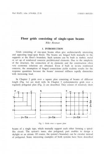 Floor grids consisting of single-span beams