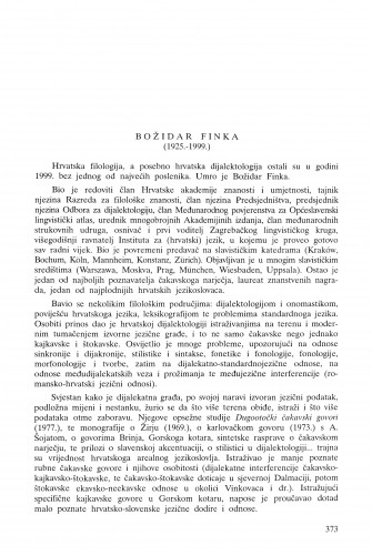 Božidar Finka (1925.-1999.) / Petar Šimunović