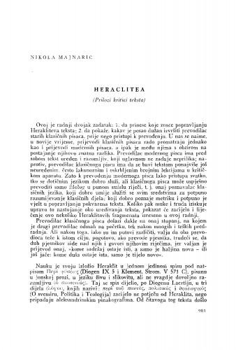 Heraclitea