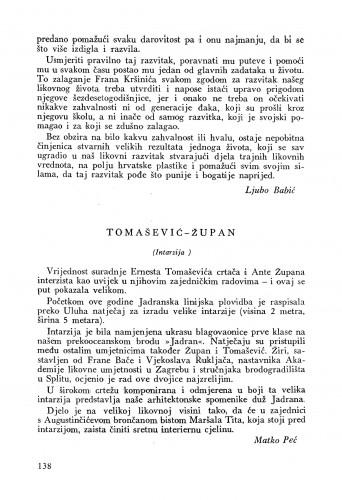 Tomašić-Župan (Intarzija) : Bulletin Instituta za likovne umjetnosti Jugoslavenske akademije znanosti i umjetnosti