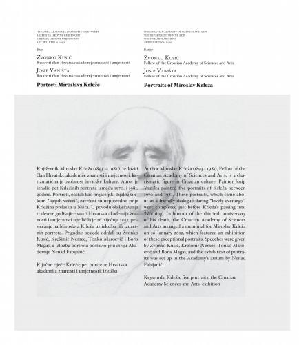 Portreti Miroslava Krleže : Art Bulletin