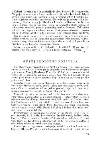 Muzej Brodskog Posavlja : Bulletin Instituta za likovne umjetnosti Jugoslavenske akademije znanosti i umjetnosti