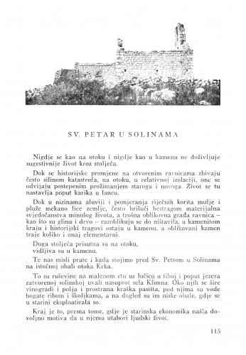 Sv. Petar u Solinama : Bulletin Zavoda za likovne umjetnosti Jugoslavenske akademije znanosti i umjetnosti